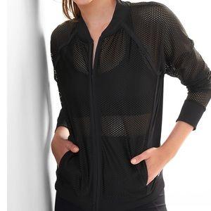 GapFit women's fashion mesh blazer